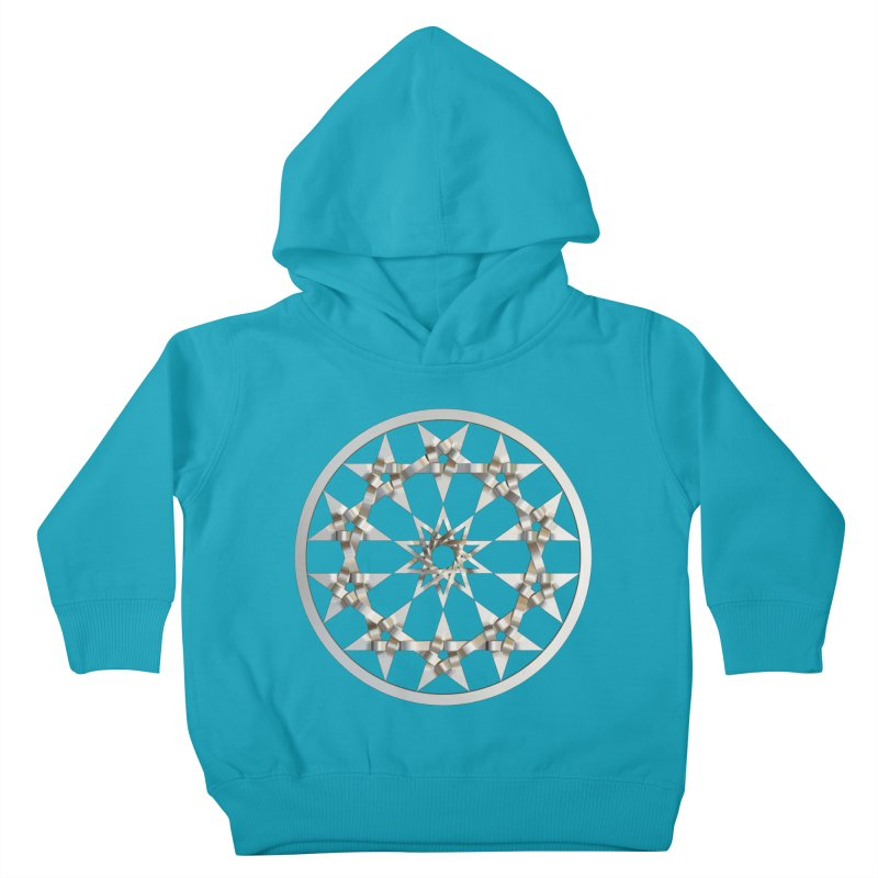 12 Woven 5 Pointed Stars Silver Kids Toddler Pullover Hoody by diamondheart's Artist Shop