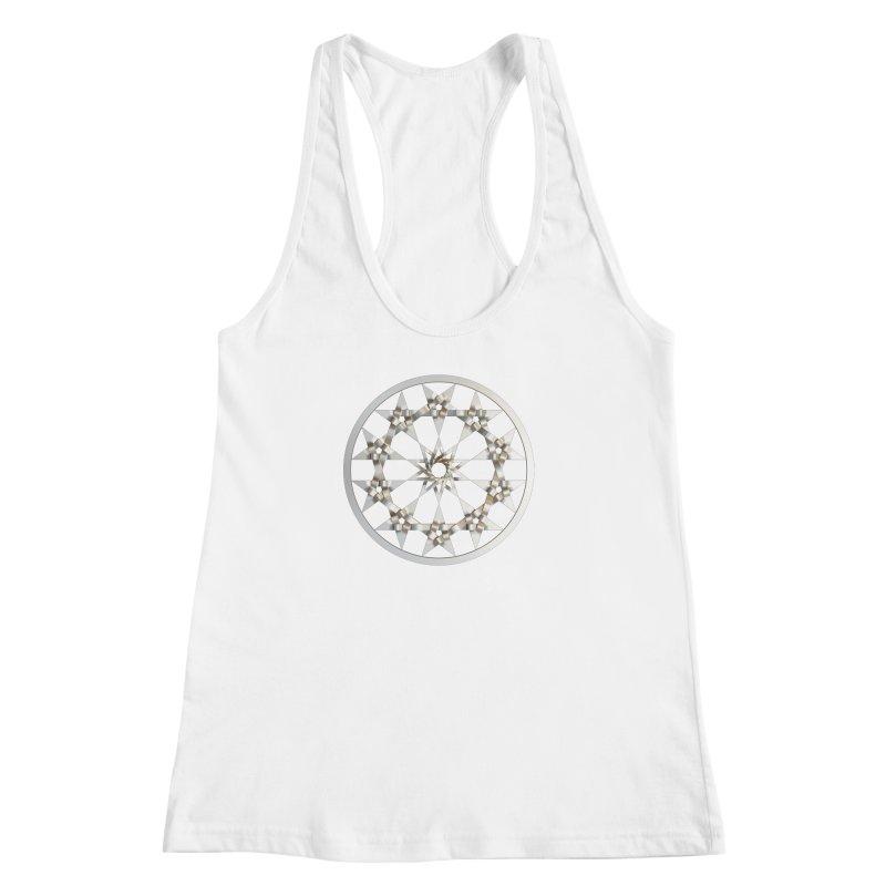 12 Woven 5 Pointed Stars Silver Women's Racerback Tank by diamondheart's Artist Shop