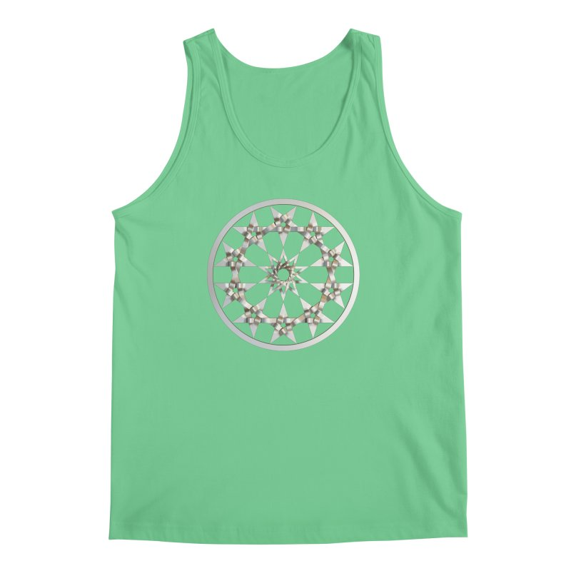 12 Woven 5 Pointed Stars Silver Men's Regular Tank by diamondheart's Artist Shop