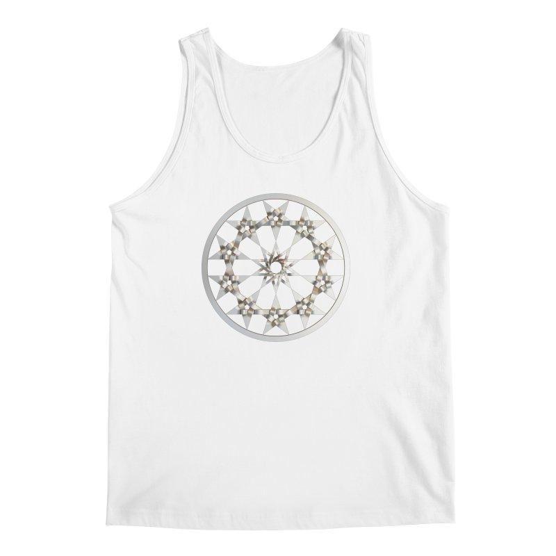 12 Woven 5 Pointed Stars Silver Men's Regular Tank by diamondheart's Artist Shop