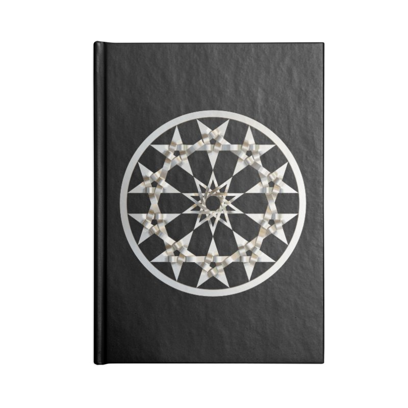 12 Woven 5 Pointed Stars Silver Accessories Lined Journal Notebook by diamondheart's Artist Shop