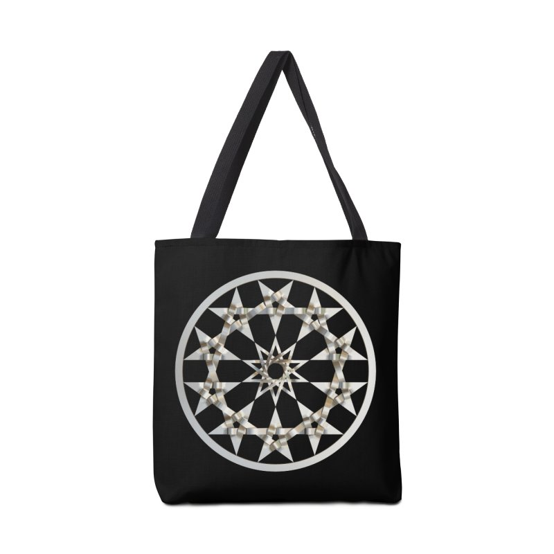 12 Woven 5 Pointed Stars Silver Accessories Tote Bag Bag by diamondheart's Artist Shop