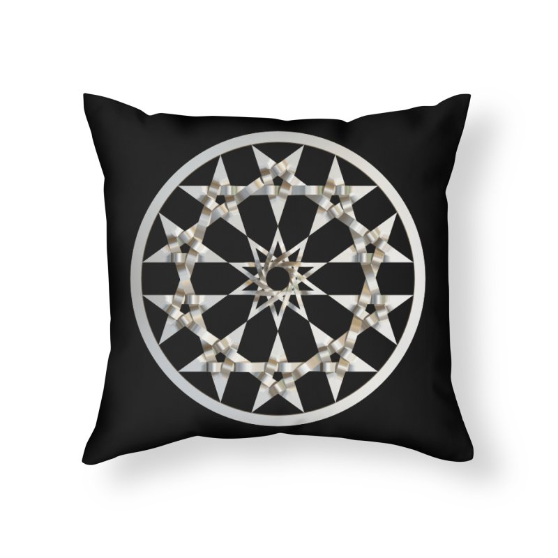 12 Woven 5 Pointed Stars Silver Home Throw Pillow by diamondheart's Artist Shop