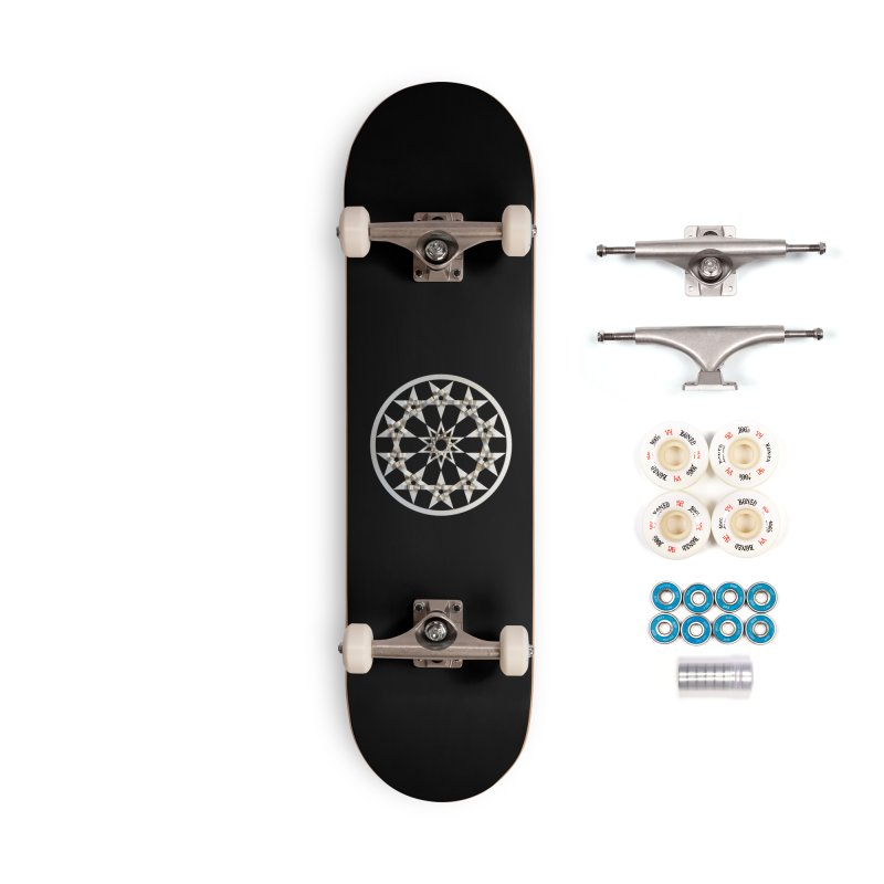 12 Woven 5 Pointed Stars Silver Accessories Complete - Premium Skateboard by diamondheart's Artist Shop