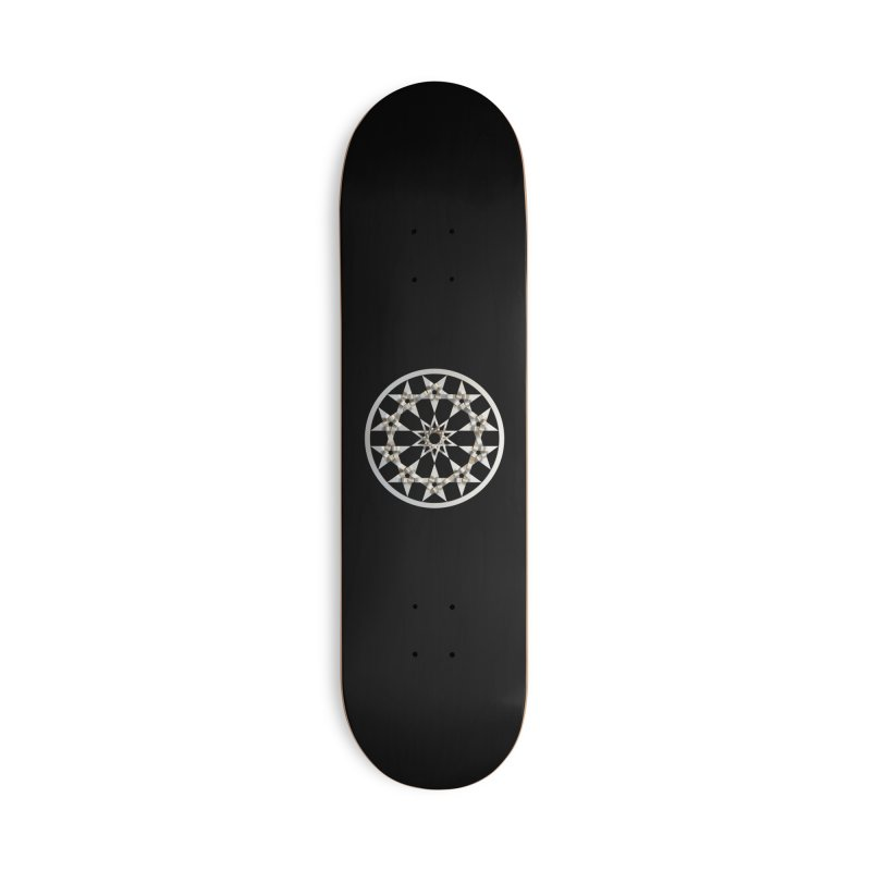 12 Woven 5 Pointed Stars Silver Accessories Deck Only Skateboard by diamondheart's Artist Shop