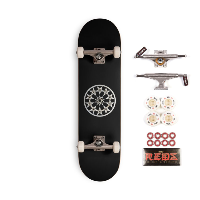 12 Woven 5 Pointed Stars Silver Accessories Skateboard by diamondheart's Artist Shop