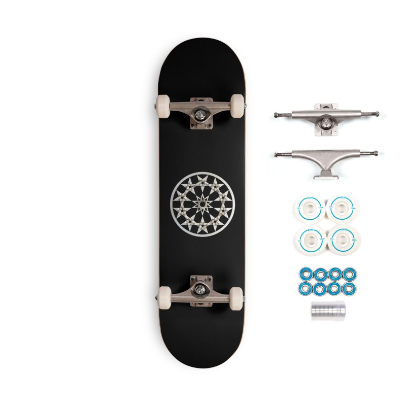 12 Woven 5 Pointed Stars Silver Accessories Complete - Basic Skateboard by diamondheart's Artist Shop