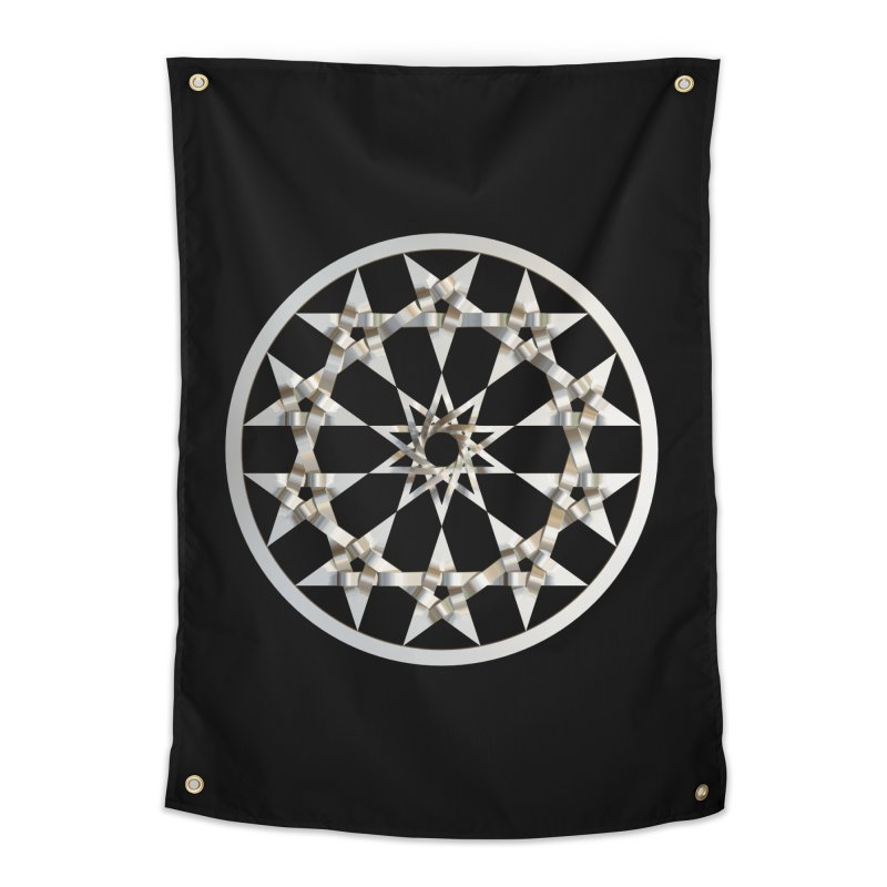 12 Woven 5 Pointed Stars Silver Home Tapestry by diamondheart's Artist Shop