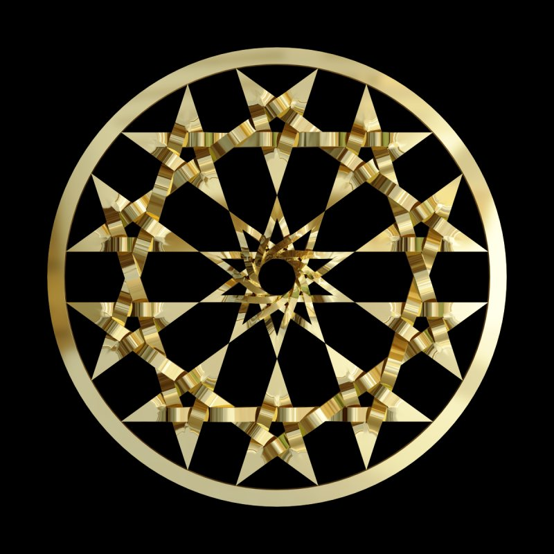 12 Woven 5 Pointed Stars Gold by diamondheart's Artist Shop