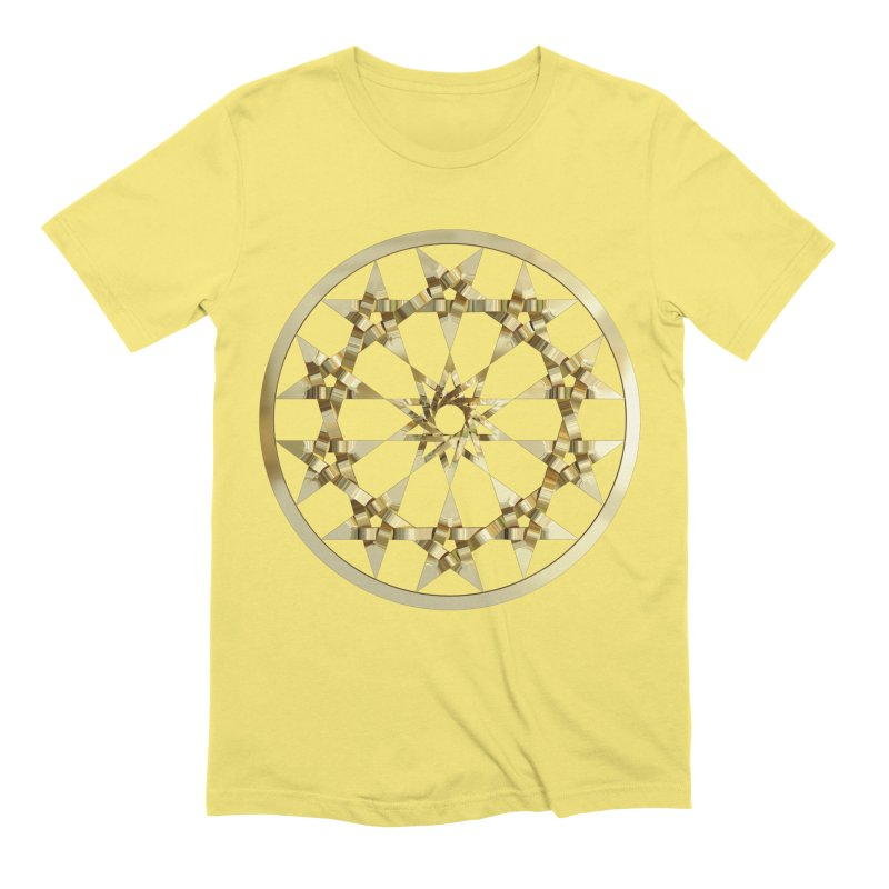 12 Woven 5 Pointed Stars Gold Men's Extra Soft T-Shirt by diamondheart's Artist Shop