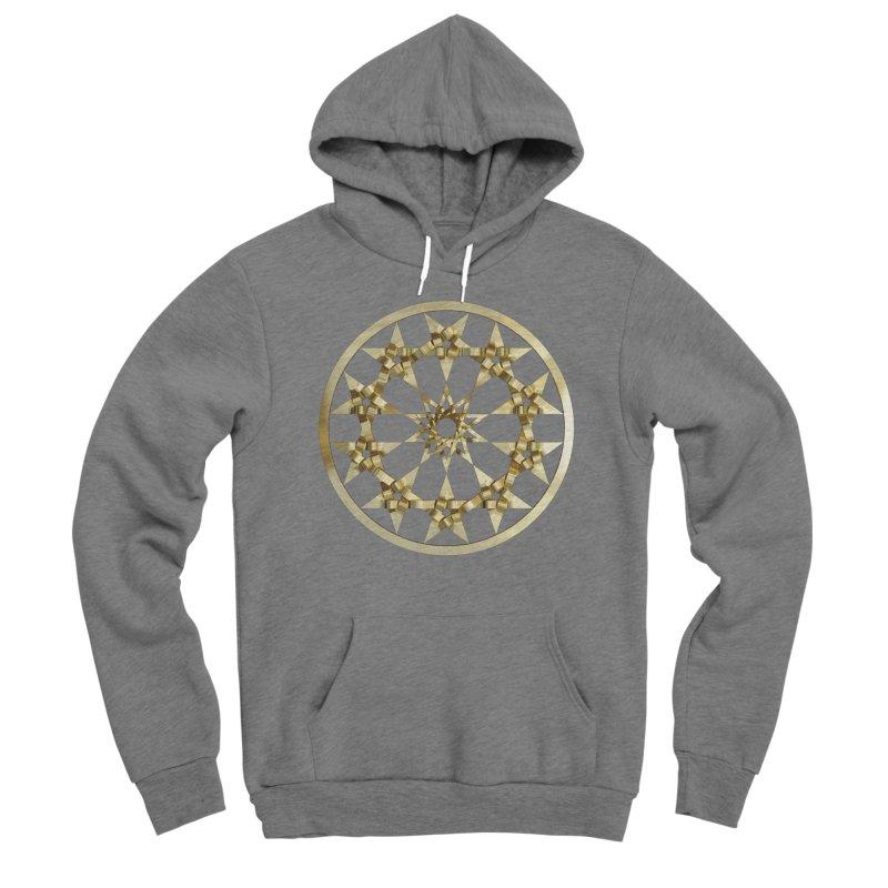 12 Woven 5 Pointed Stars Gold Women's Sponge Fleece Pullover Hoody by diamondheart's Artist Shop
