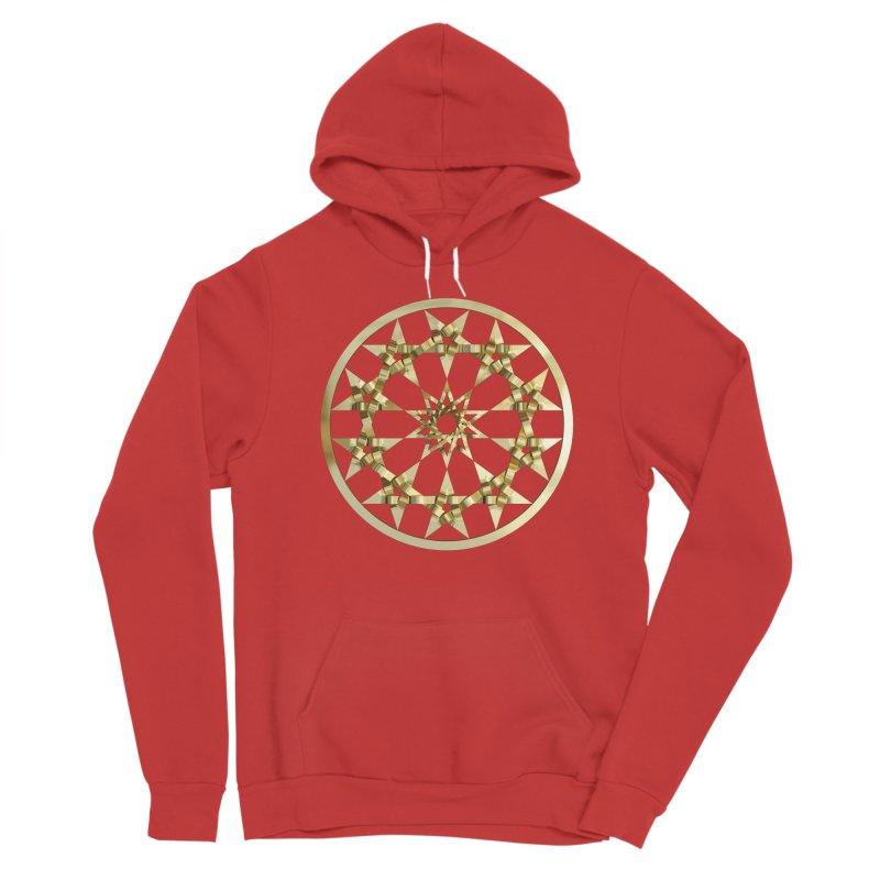 12 Woven 5 Pointed Stars Gold Women's Pullover Hoody by diamondheart's Artist Shop