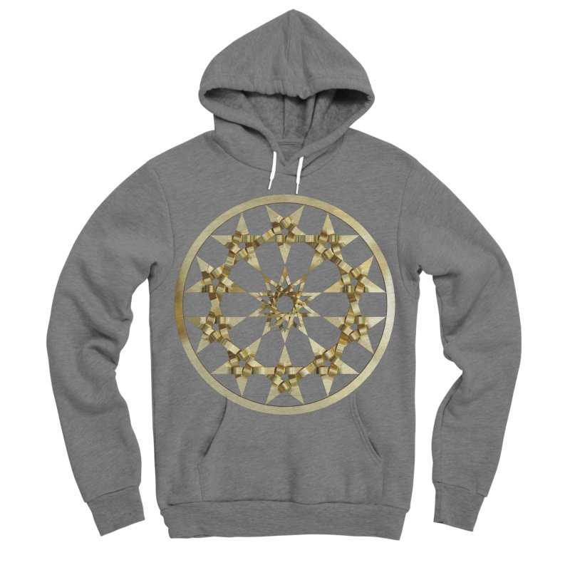 12 Woven 5 Pointed Stars Gold Men's Sponge Fleece Pullover Hoody by diamondheart's Artist Shop