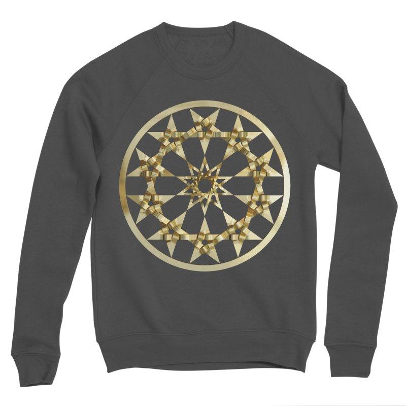 12 Woven 5 Pointed Stars Gold Women's Sponge Fleece Sweatshirt by diamondheart's Artist Shop