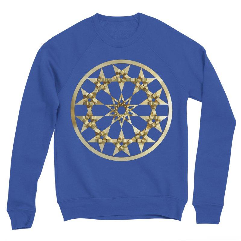 12 Woven 5 Pointed Stars Gold Men's Sponge Fleece Sweatshirt by diamondheart's Artist Shop