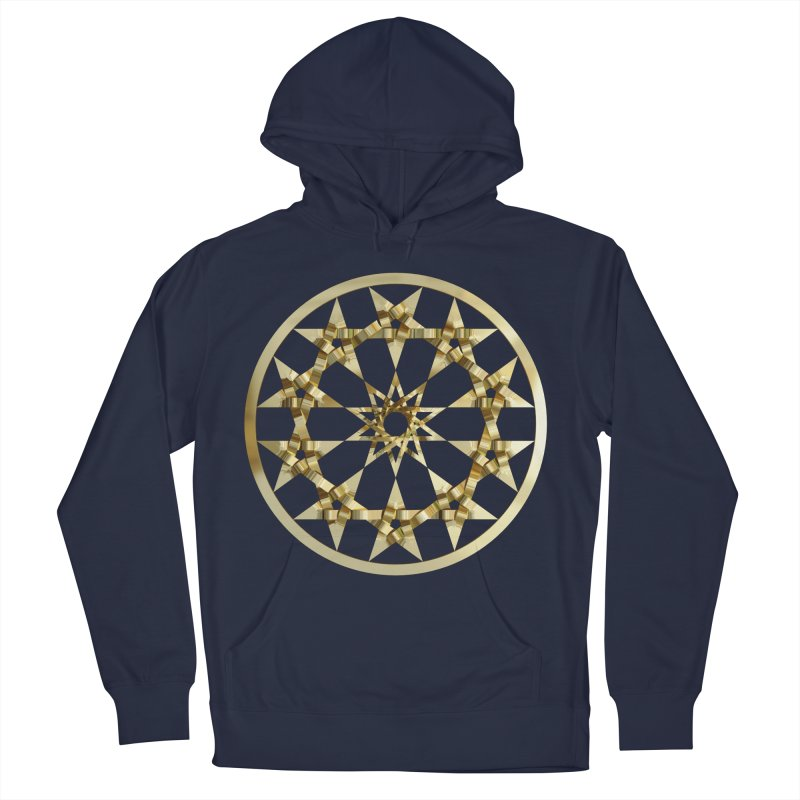 12 Woven 5 Pointed Stars Gold Men's Pullover Hoody by diamondheart's Artist Shop