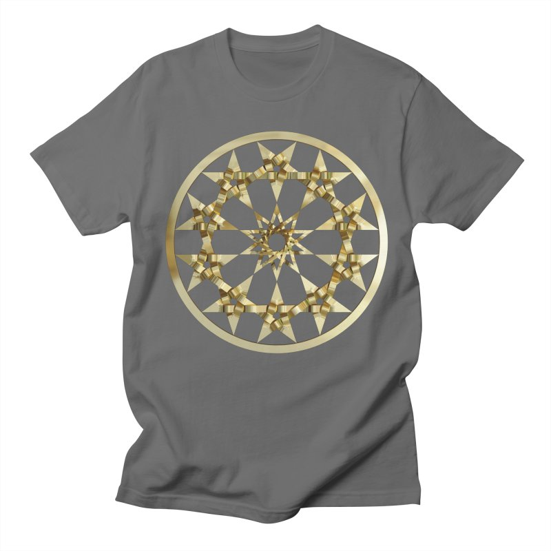 12 Woven 5 Pointed Stars Gold Men's T-Shirt by diamondheart's Artist Shop