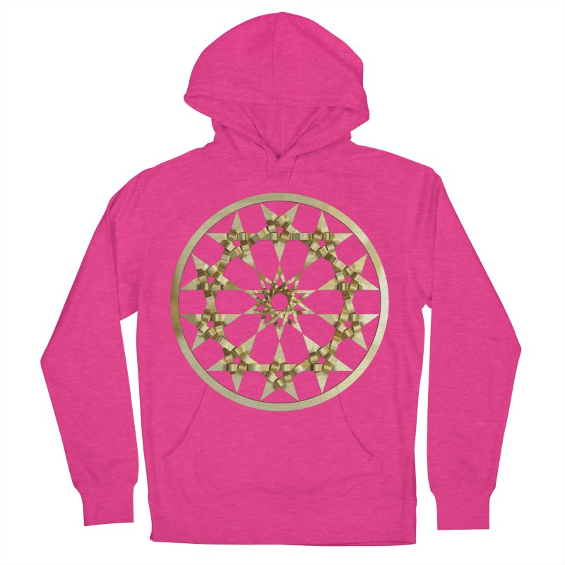 12 Woven 5 Pointed Stars Gold Men's French Terry Pullover Hoody by diamondheart's Artist Shop