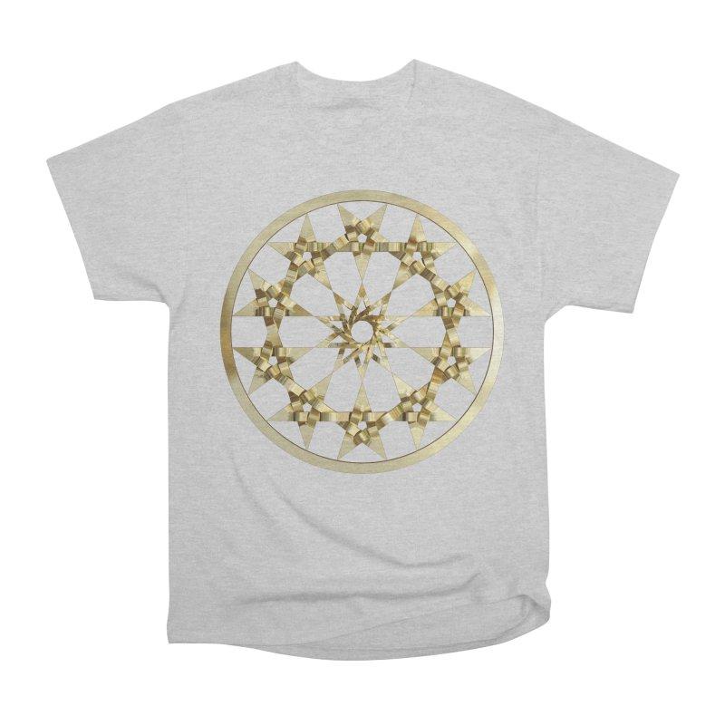 12 Woven 5 Pointed Stars Gold Women's Heavyweight Unisex T-Shirt by diamondheart's Artist Shop