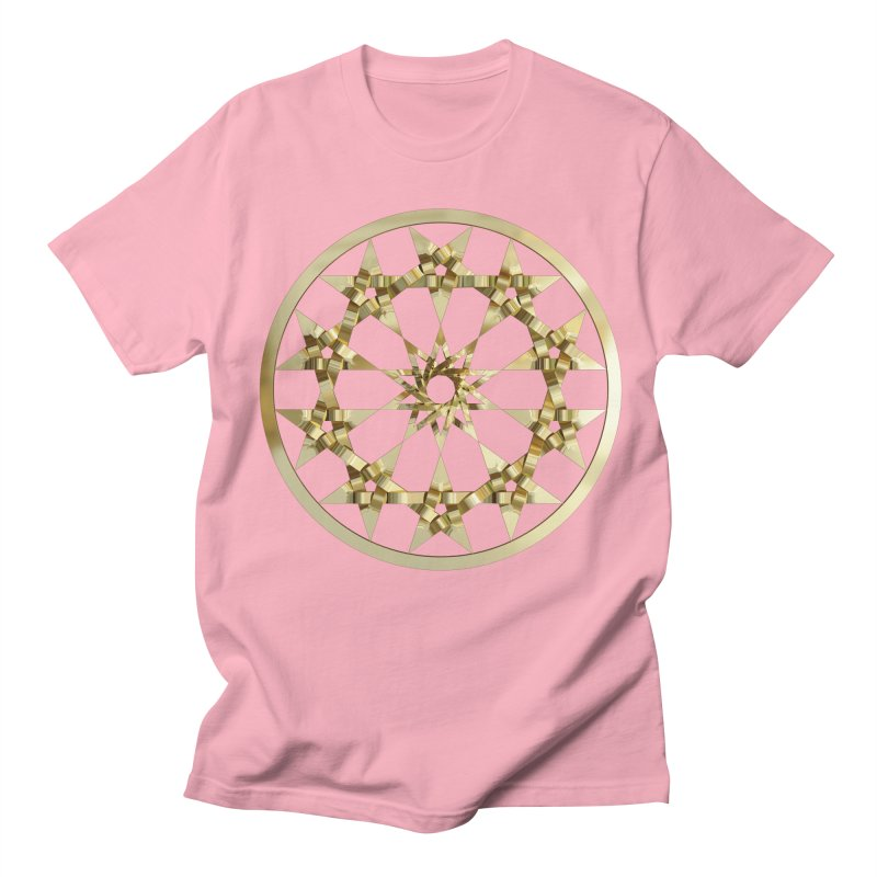 12 Woven 5 Pointed Stars Gold Women's Regular Unisex T-Shirt by diamondheart's Artist Shop