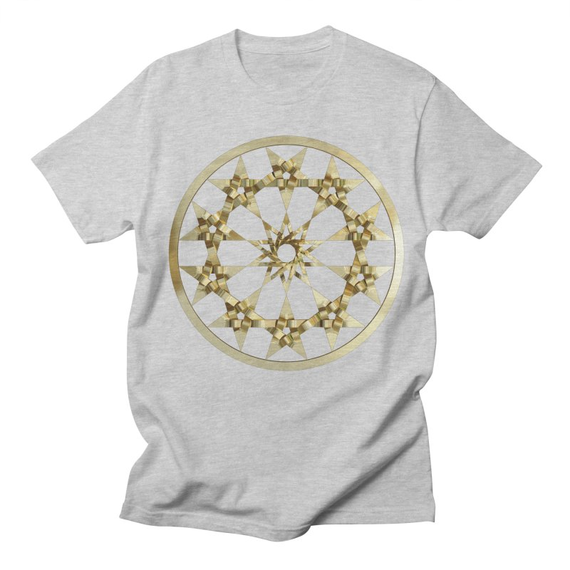 12 Woven 5 Pointed Stars Gold Women's Regular Unisex T-Shirt by diamondheart's Artist Shop
