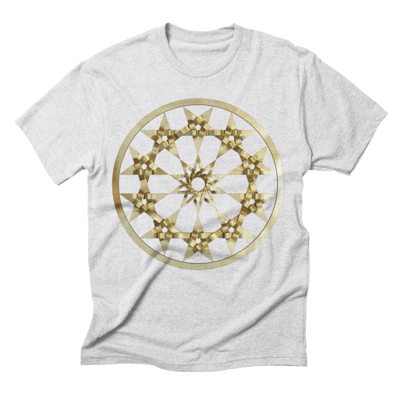 12 Woven 5 Pointed Stars Gold Men's Triblend T-Shirt by diamondheart's Artist Shop