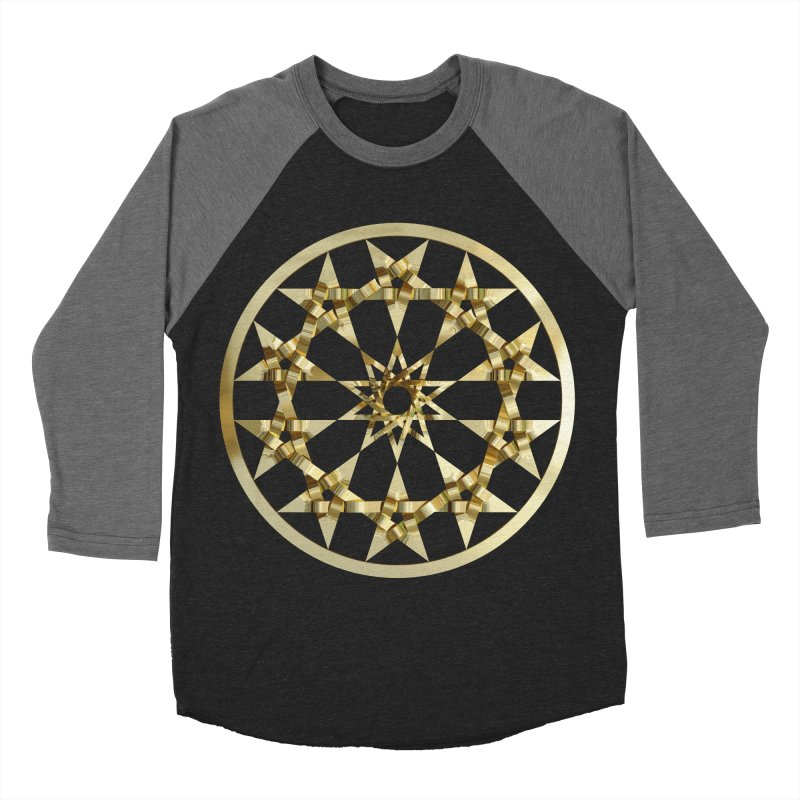 12 Woven 5 Pointed Stars Gold Men's Baseball Triblend Longsleeve T-Shirt by diamondheart's Artist Shop