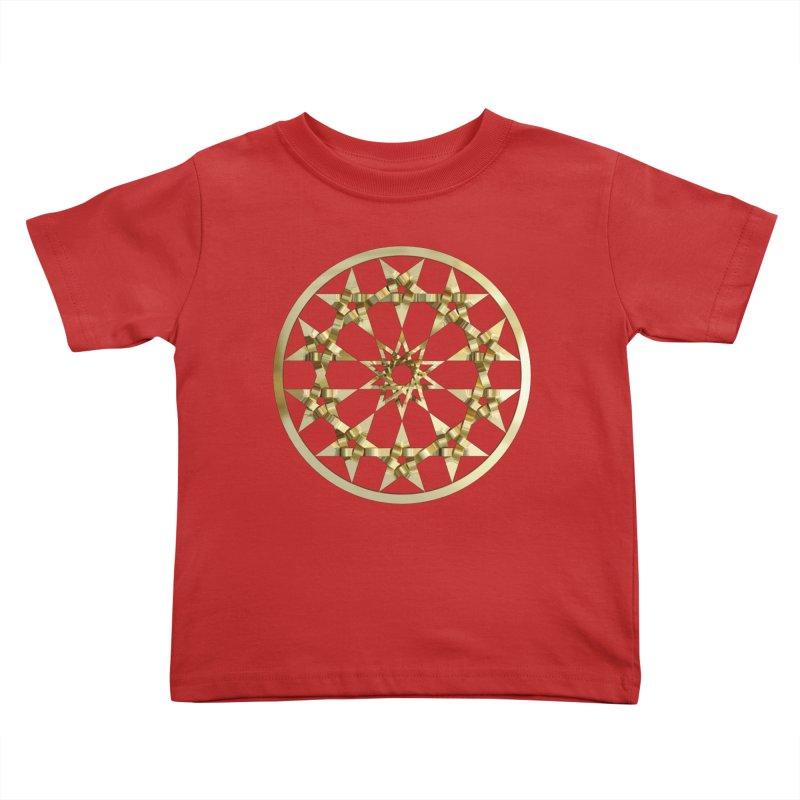 12 Woven 5 Pointed Stars Gold Kids Toddler T-Shirt by diamondheart's Artist Shop