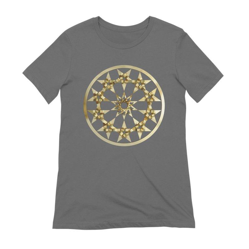 12 Woven 5 Pointed Stars Gold Women's T-Shirt by diamondheart's Artist Shop