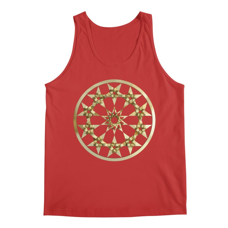 12 Woven 5 Pointed Stars Gold Men's Regular Tank by diamondheart's Artist Shop