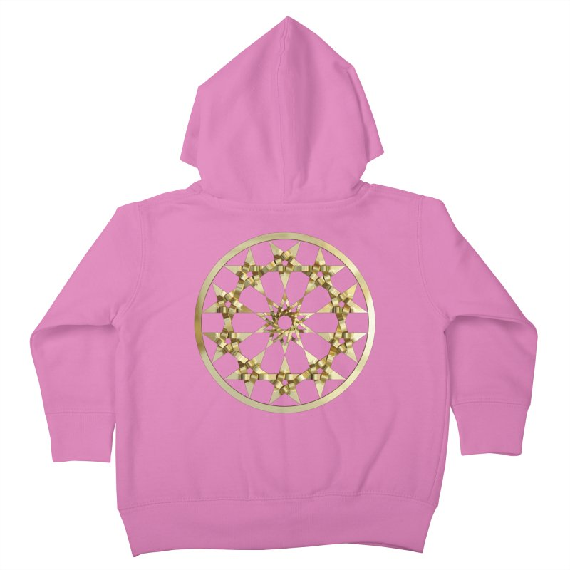12 Woven 5 Pointed Stars Gold Kids Toddler Zip-Up Hoody by diamondheart's Artist Shop