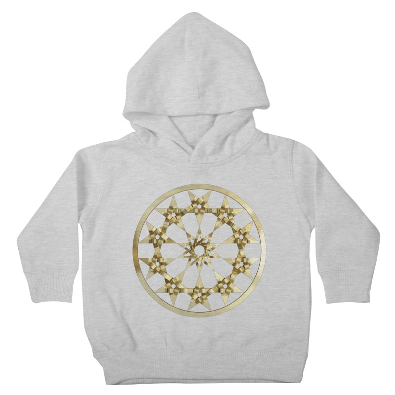 12 Woven 5 Pointed Stars Gold Kids Toddler Pullover Hoody by diamondheart's Artist Shop