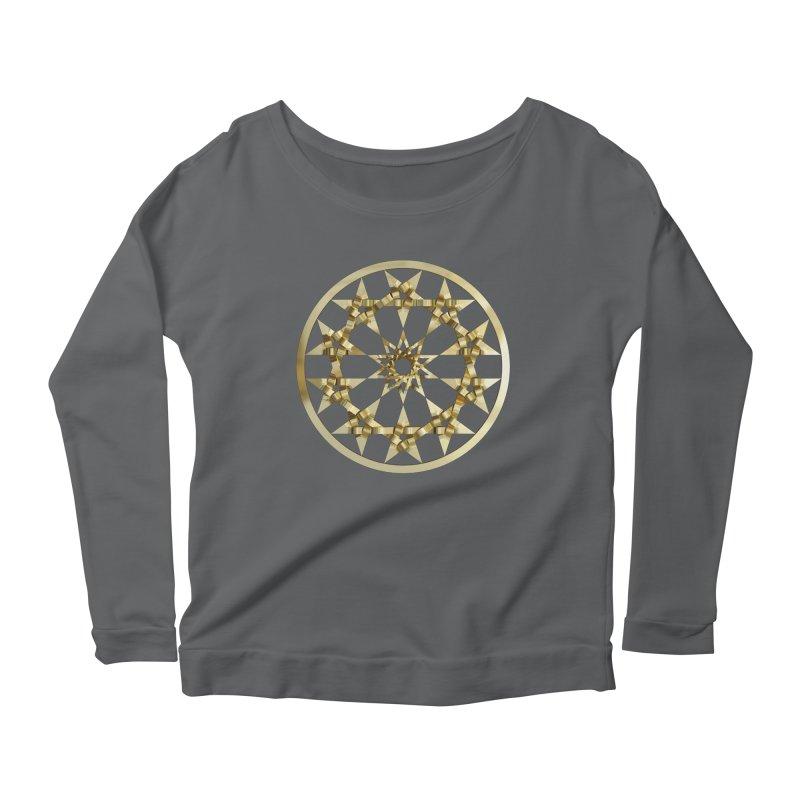 12 Woven 5 Pointed Stars Gold Women's Longsleeve T-Shirt by diamondheart's Artist Shop