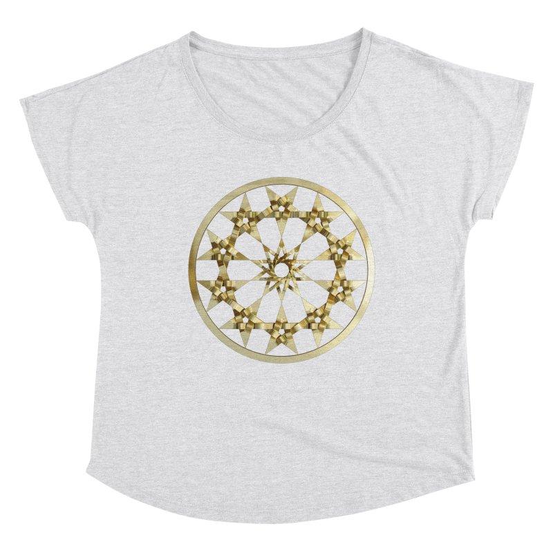 12 Woven 5 Pointed Stars Gold Women's Dolman Scoop Neck by diamondheart's Artist Shop