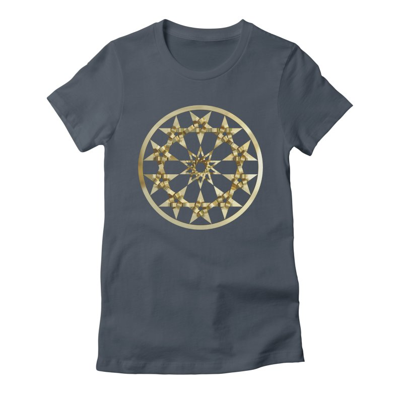 12 Woven 5 Pointed Stars Gold Women's T-Shirt by diamondheart's Artist Shop