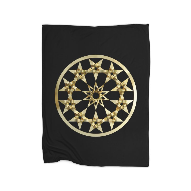 12 Woven 5 Pointed Stars Gold Home Fleece Blanket Blanket by diamondheart's Artist Shop