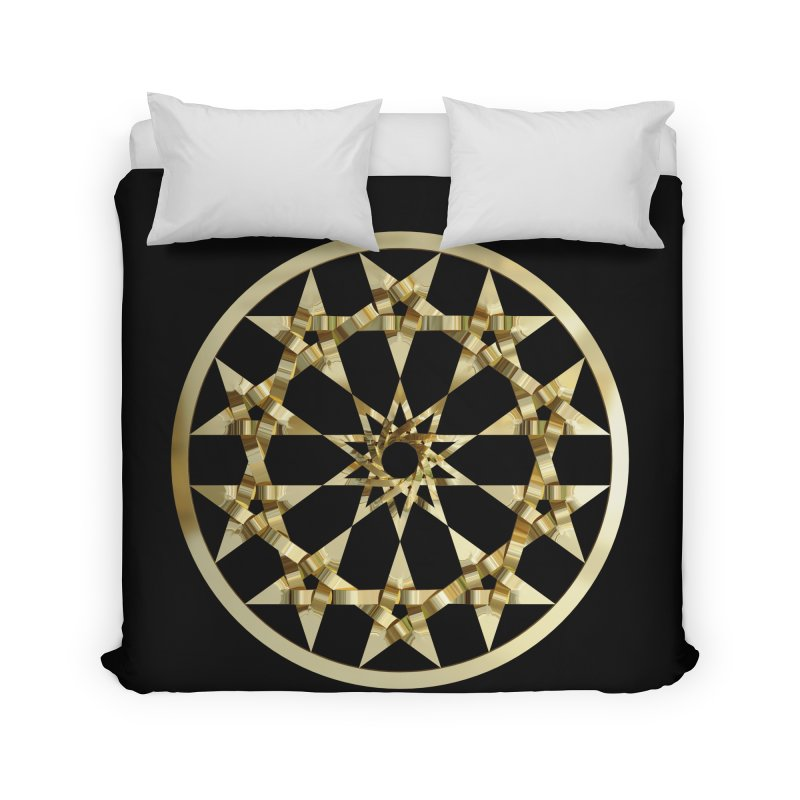 12 Woven 5 Pointed Stars Gold Home Duvet by diamondheart's Artist Shop