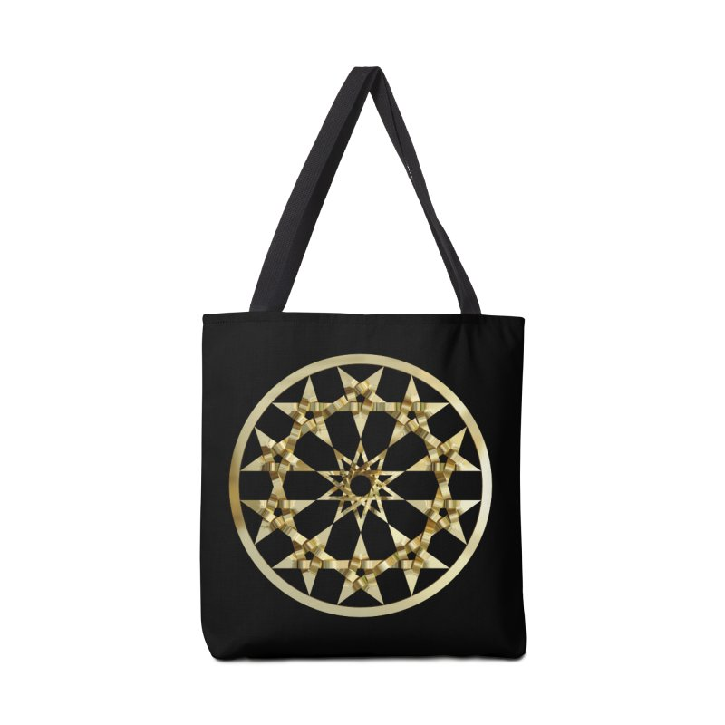 12 Woven 5 Pointed Stars Gold Accessories Tote Bag Bag by diamondheart's Artist Shop