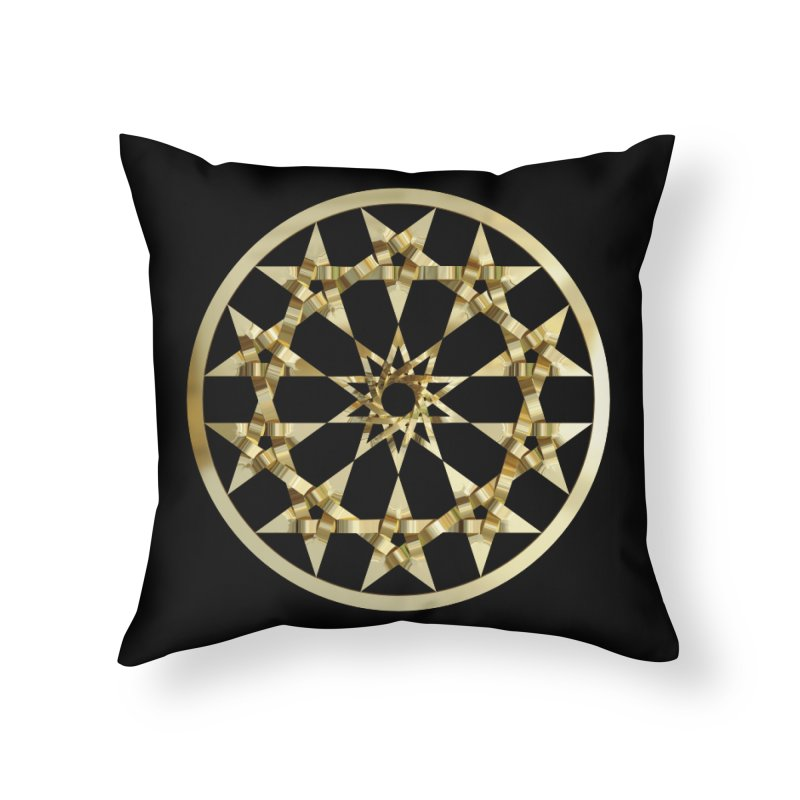 12 Woven 5 Pointed Stars Gold Home Throw Pillow by diamondheart's Artist Shop