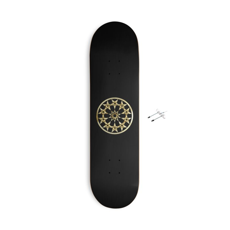 12 Woven 5 Pointed Stars Gold Accessories Skateboard by diamondheart's Artist Shop
