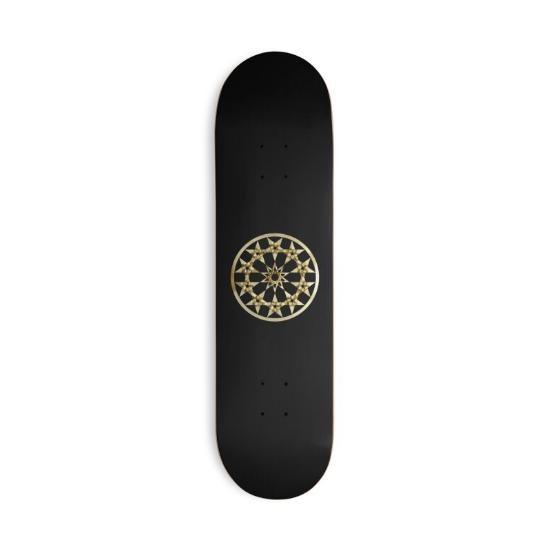 12 Woven 5 Pointed Stars Gold Accessories Deck Only Skateboard by diamondheart's Artist Shop
