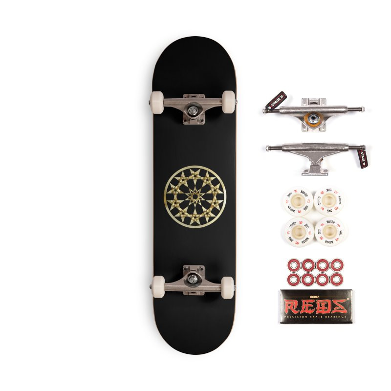 12 Woven 5 Pointed Stars Gold Accessories Complete - Pro Skateboard by diamondheart's Artist Shop