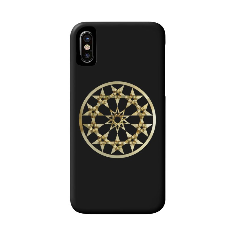 12 Woven 5 Pointed Stars Gold Accessories Phone Case by diamondheart's Artist Shop