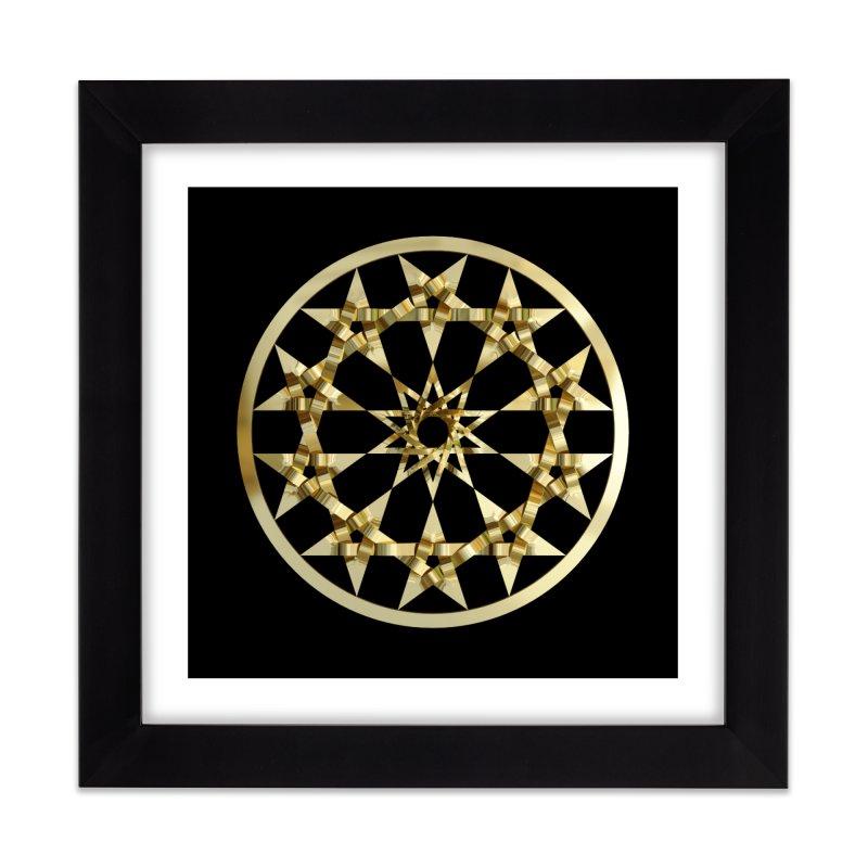 12 Woven 5 Pointed Stars Gold Home Framed Fine Art Print by diamondheart's Artist Shop