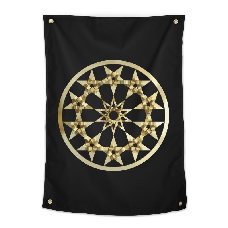 12 Woven 5 Pointed Stars Gold Home Tapestry by diamondheart's Artist Shop