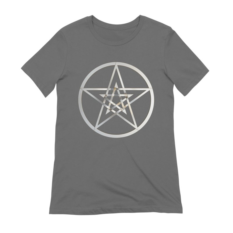 Double Pentacles Silver Women's Extra Soft T-Shirt by diamondheart's Artist Shop
