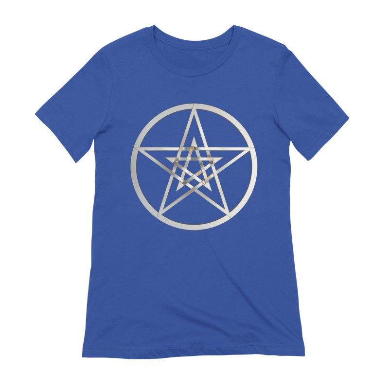 Double Pentacles Silver Women's Extra Soft T-Shirt by diamondheart's Artist Shop