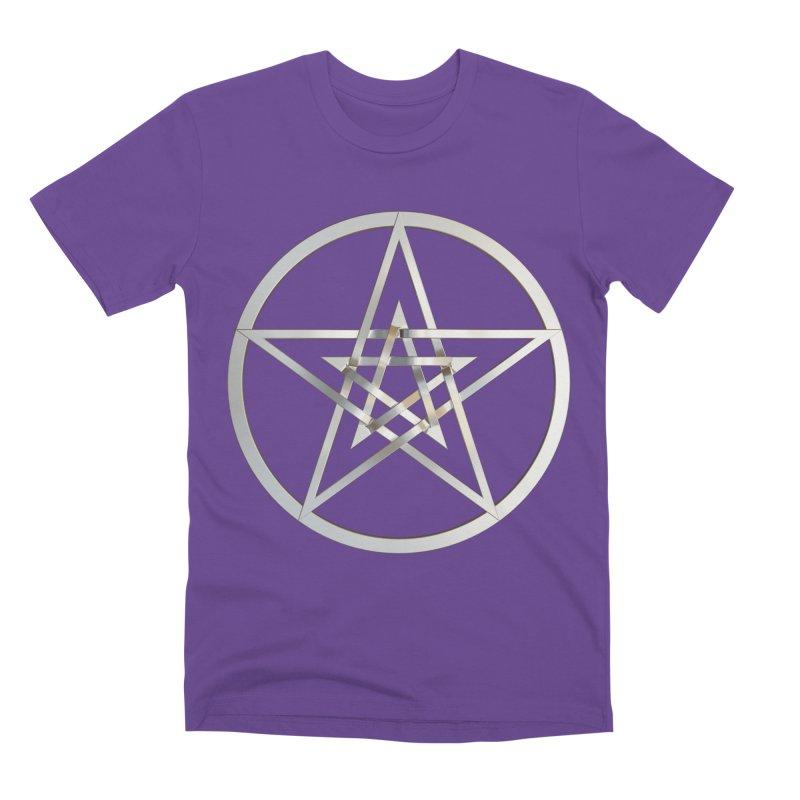 Double Pentacles Silver Men's Premium T-Shirt by diamondheart's Artist Shop