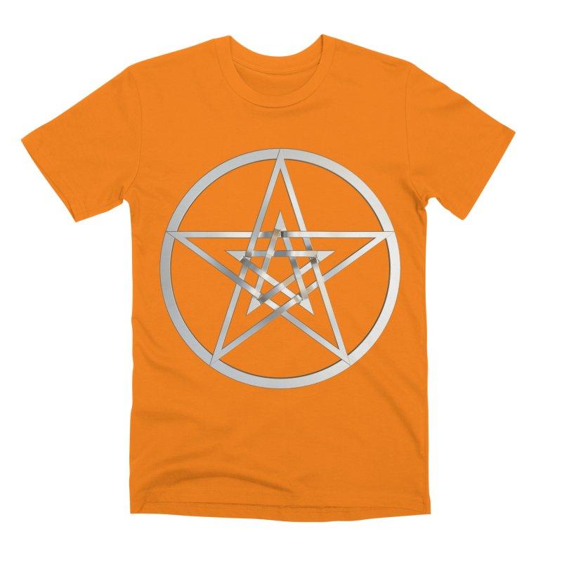 Double Pentacles Silver Men's T-Shirt by diamondheart's Artist Shop