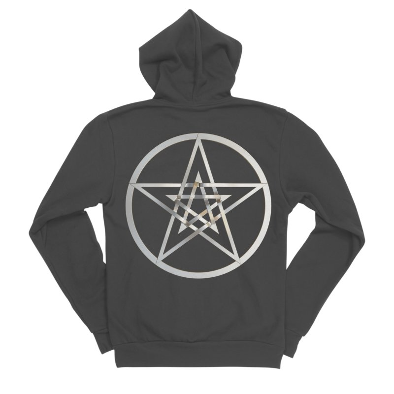 Double Pentacles Silver Women's Sponge Fleece Zip-Up Hoody by diamondheart's Artist Shop